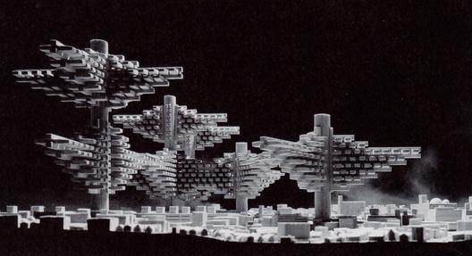 Original model of Arata Isozaki's Cities in the Air, 1960