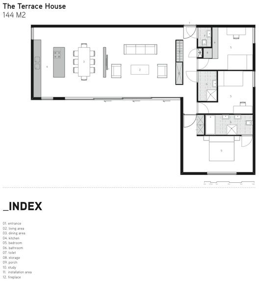 The Terrace House Plan