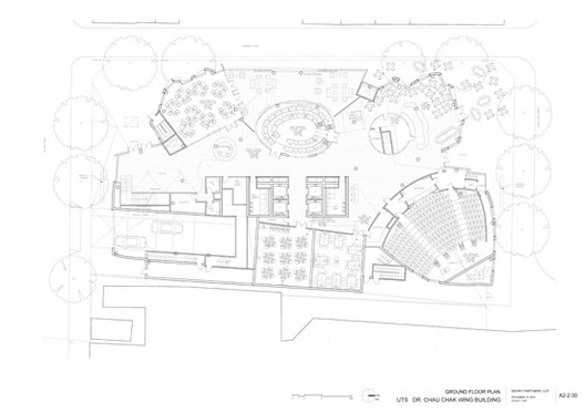 Ground floor plan / Gehry Partners, LLP