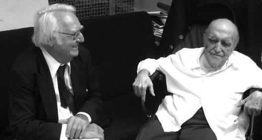 Richard Meier and Oscar Niemeyer