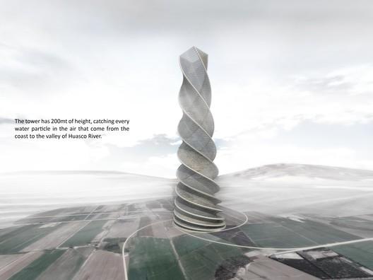 Rain Water Harvesting Tower, Courtesy of Holcim Awards