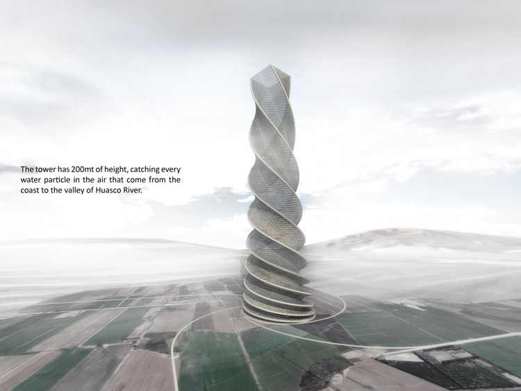 Rain Water Harvesting Tower, Courtesy of Holcim Awards