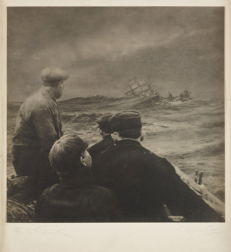 The Wreck. Photograph by Francis James Mortimer. 1911 via Science and Society Picture Library