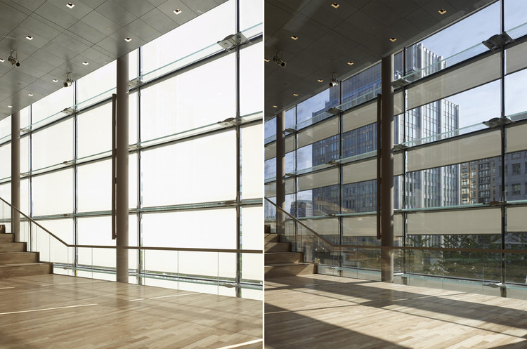 Motorized External Roller Shades Hunter Douglas Contract Archdaily