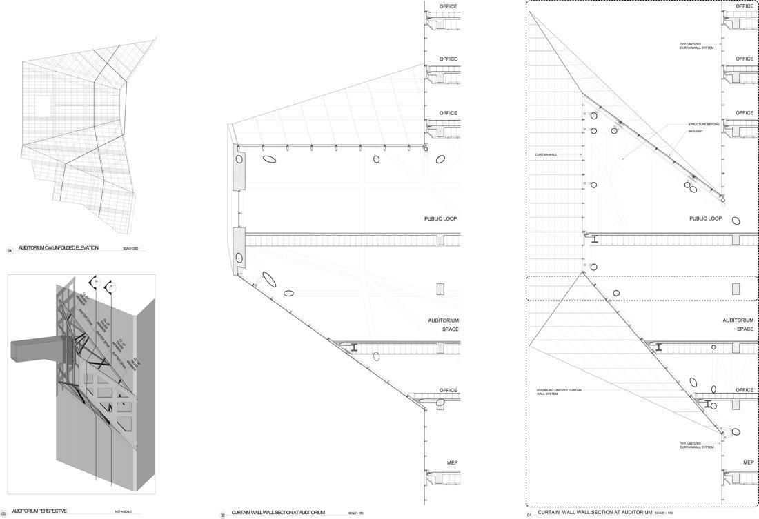 In Progress: Sliced Porosity Block / Steven Holl Architects,curtain Wall  Detail