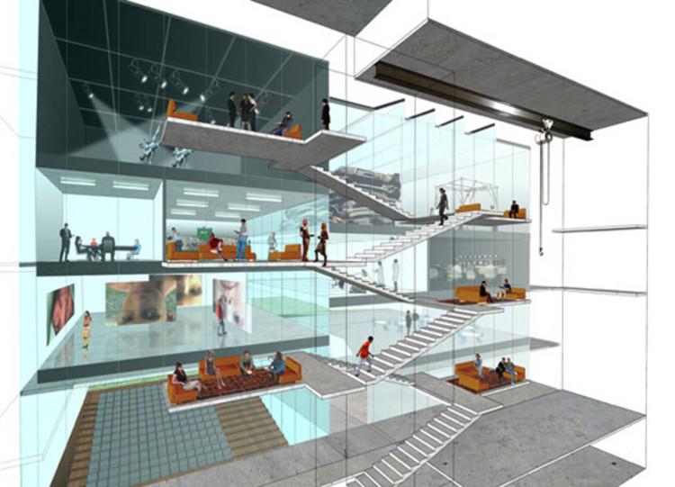 Creative arts center diller scofidio renfro archdaily for Floor plans brown university
