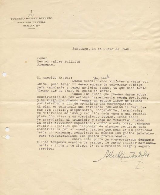 Carta del Padre Hurtado a un Arquitecto