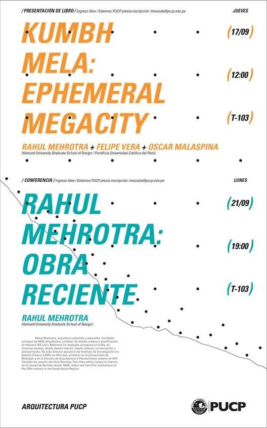 """Rahul Mehrotra en la PUCP: presentación de su libro """"Kumbh Mela Ephemeral"""", vía Facultad de Arquitectura y Urbanismo PUCP"""
