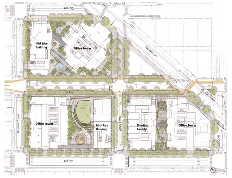 Site Plan 01, Amazon's Seattle Headquarters; Images © NBBJ