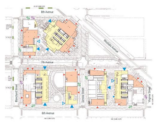 Site Plan 02, Amazon's Seattle Headquarters; Images © NBBJ