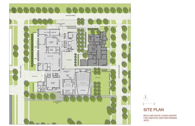 Site plan © Tod Williams Billie Tsien