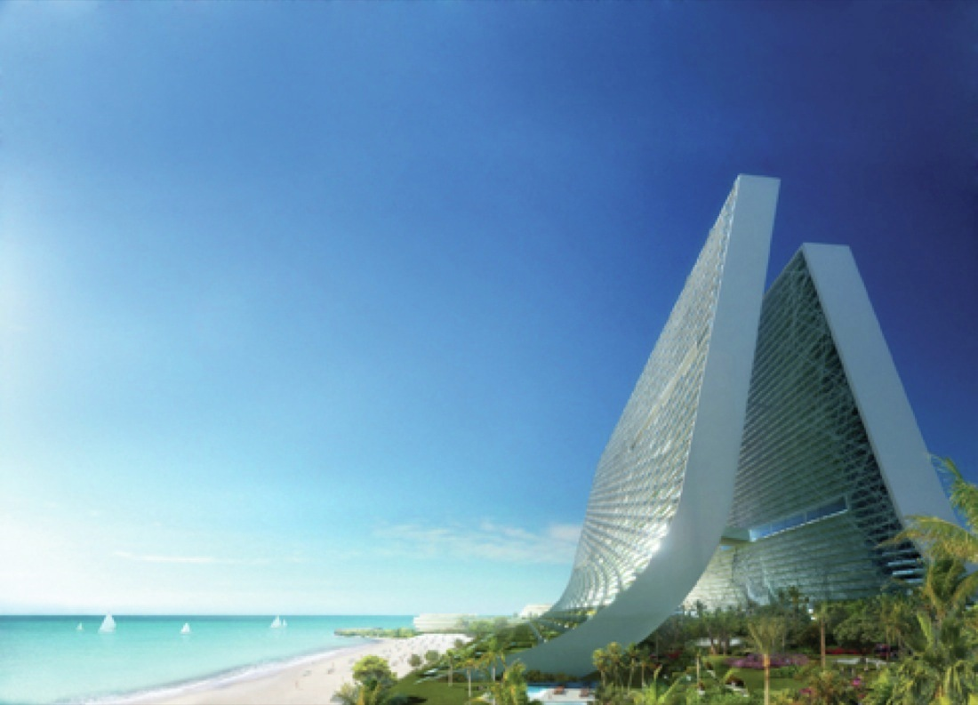 Gallery of marina beach towers oppenheim architecture for Beach architecture design