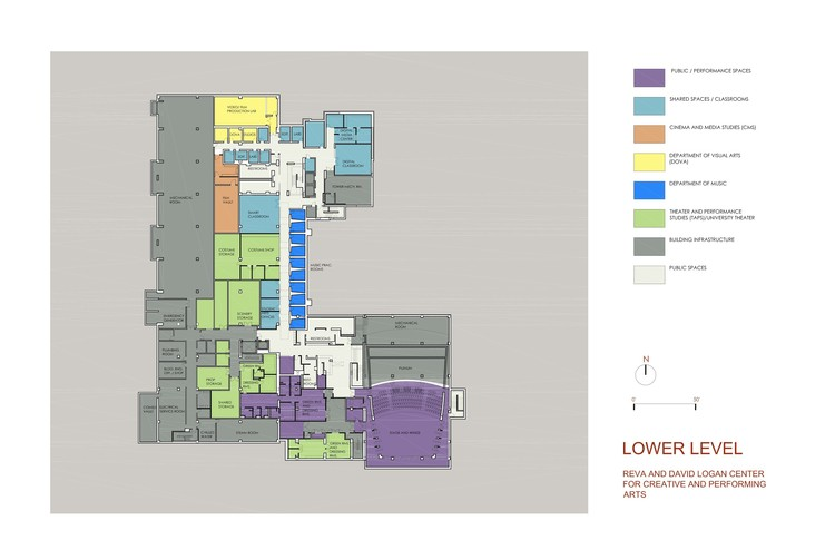 Lower level plan © Tod Williams Billie Tsien