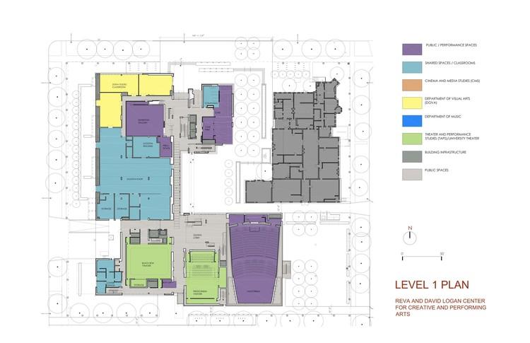 Level 1 plan © Tod Williams Billie Tsien