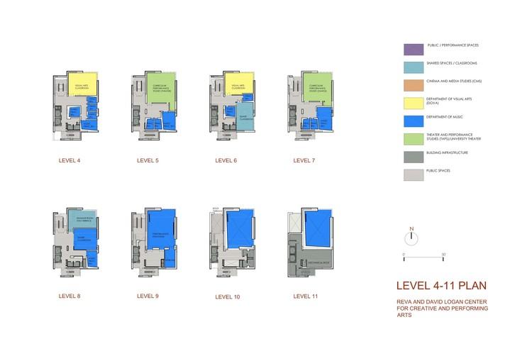 Levels 4-11 plan © Tod Williams Billie Tsien
