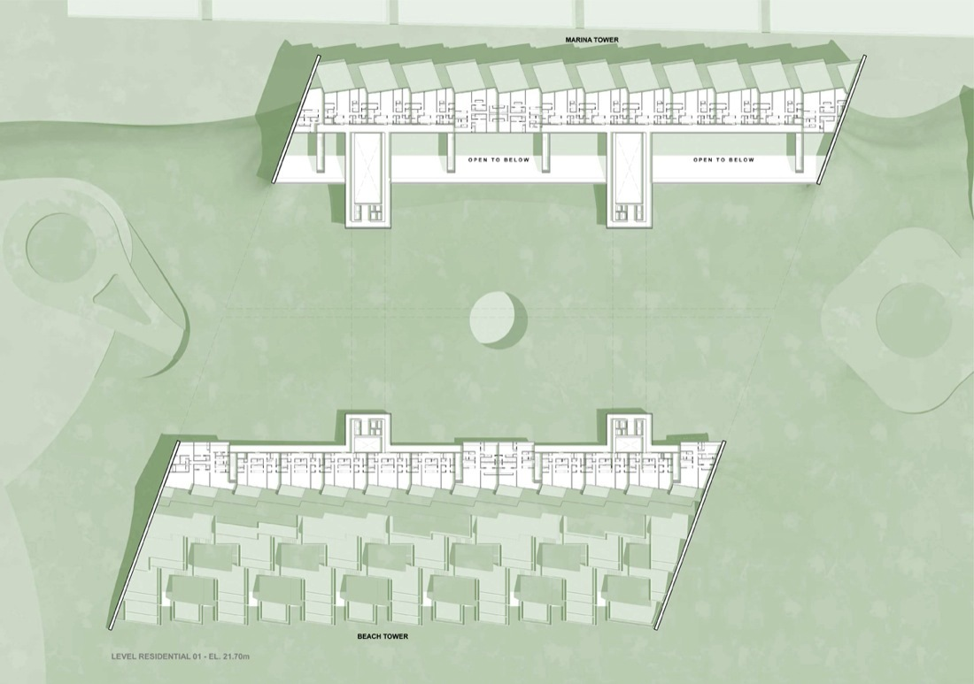 gallery of marina beach towers oppenheim architecture design 8