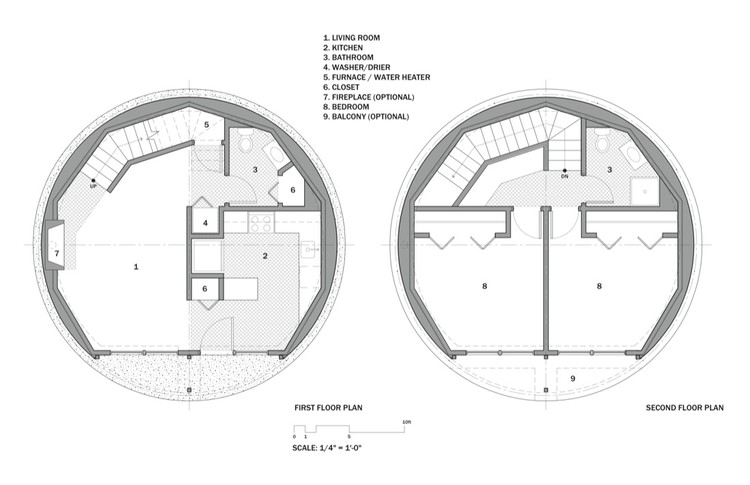 Grain Bin Home Floor Plans
