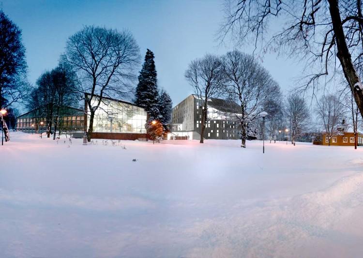 exterior night view : © Cebra / Various Architects / Østengen & Bergo