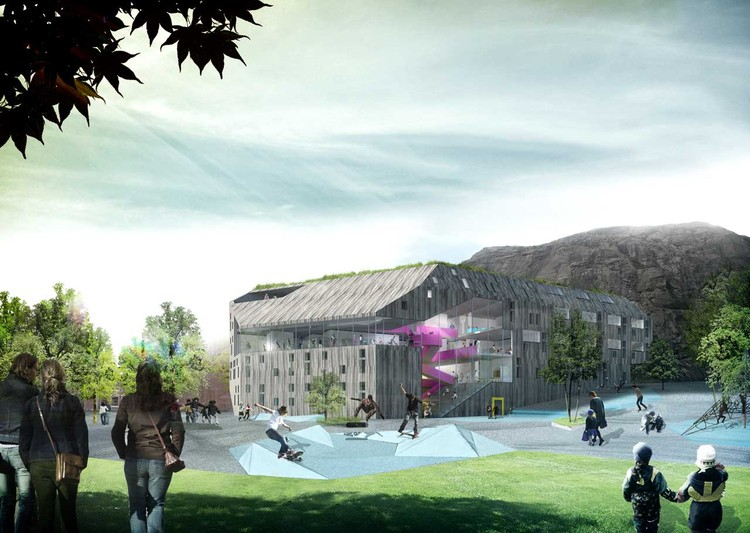 view from playground : © Cebra / Various Architects / Østengen & Bergo