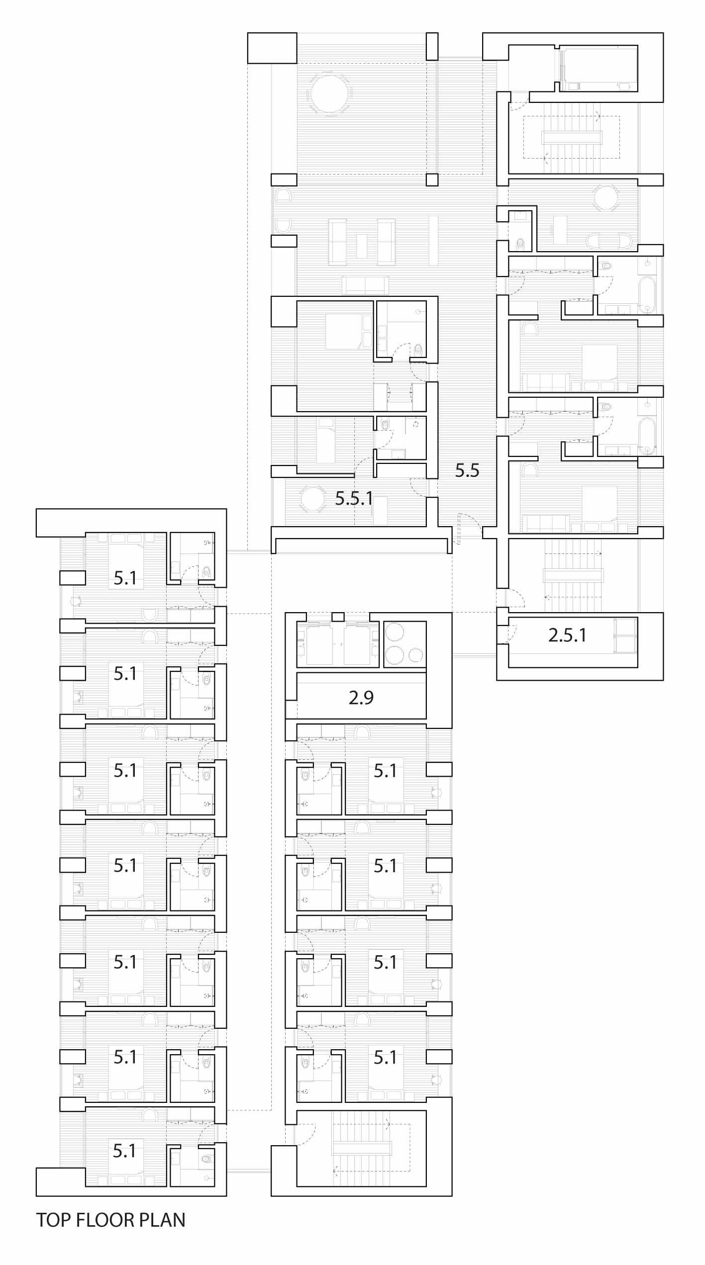 gallery of hotel liesma proposal arqx arquitectos carlos lobao 7 top floor plan view original size