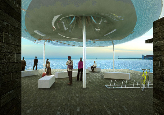 On the Pier, under the Inflated Pneumatic Structure