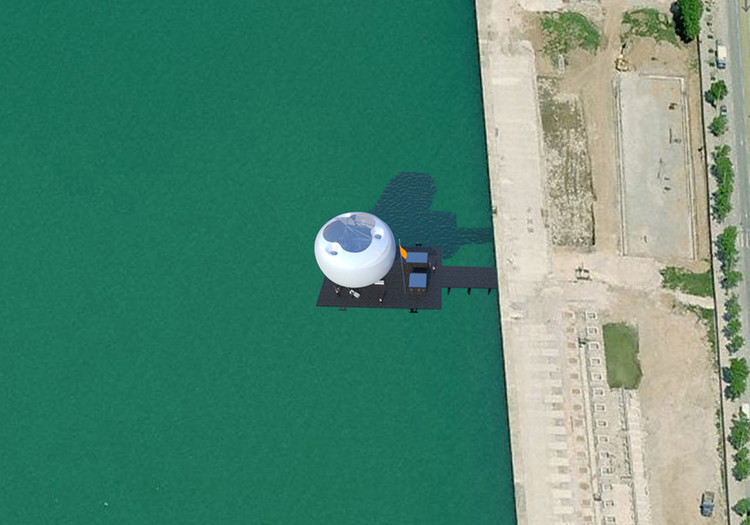 Bird's Eye view of the Pier from Google Earth