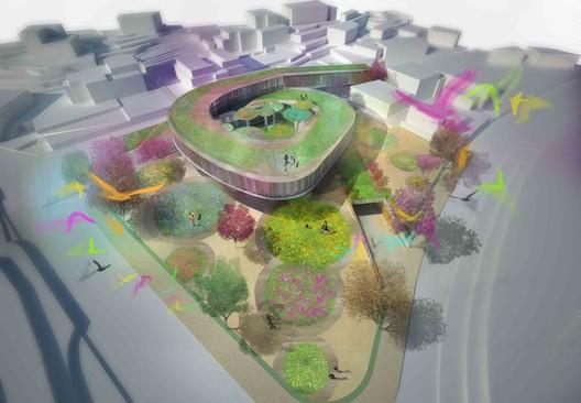 Mixed-Use Building 01 ./ Courtesy of Nabito Architects + ACTAR