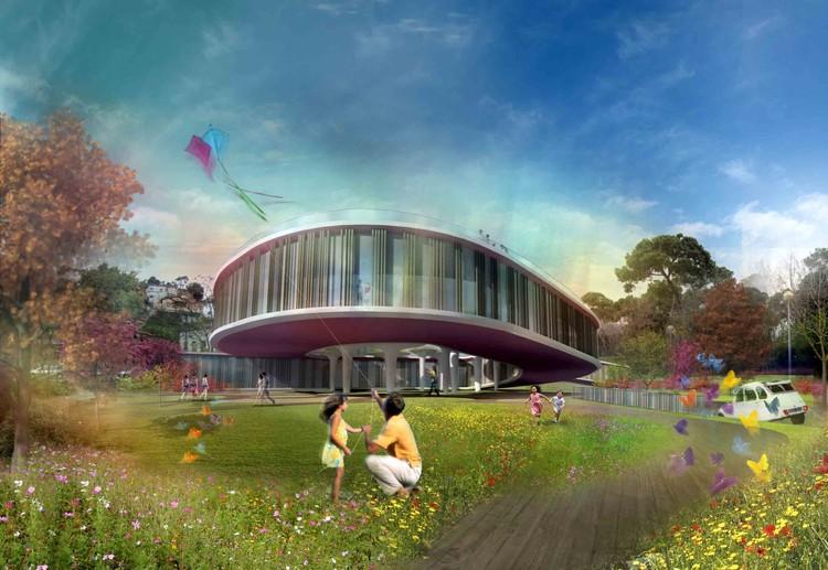Mixed-Use Building 02 ./ Courtesy of Nabito Architects + ACTAR