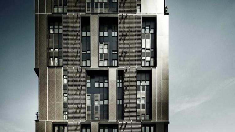 Social Housing Tower Of 75 Units In Europa Square,© Jordi Surroca