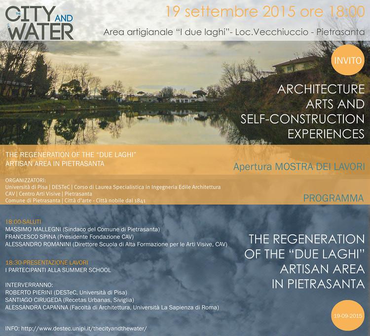 Summer School: The City and the Water, Invite - ph. Paolo Vezzoni ©zero+studio