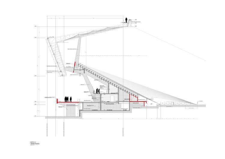 Corte C © Valle & Cornejo Arquitectos + L2C