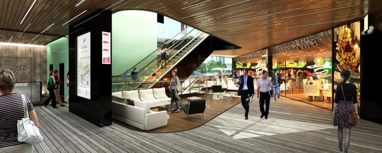 Vista vestíbulo comercial / © Glessner Group