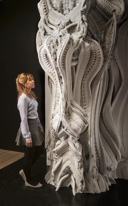 Muro impreso en 3D compuesto por 200 millones de superficies individuales, © Hansmeyer / Dillenburger