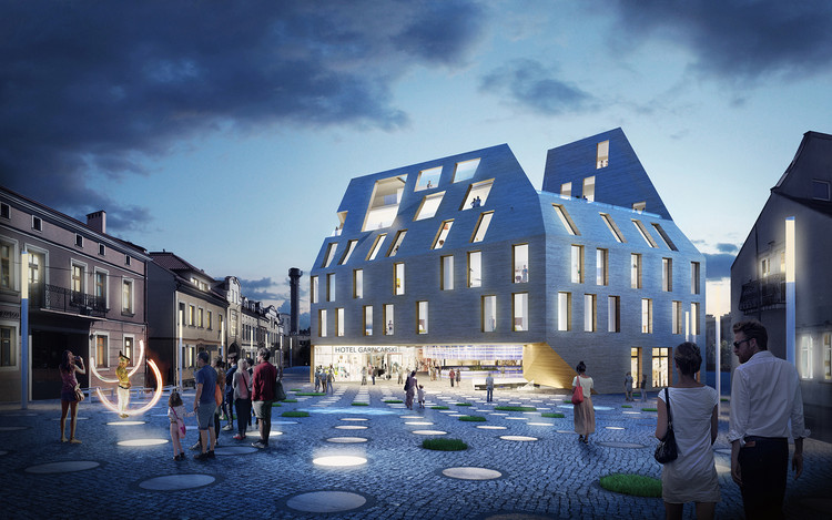 Pottery-Inspired Design Wins Competition for Multifunction Building in Poland, Courtesy of Bakpak Architects and EovaStudio