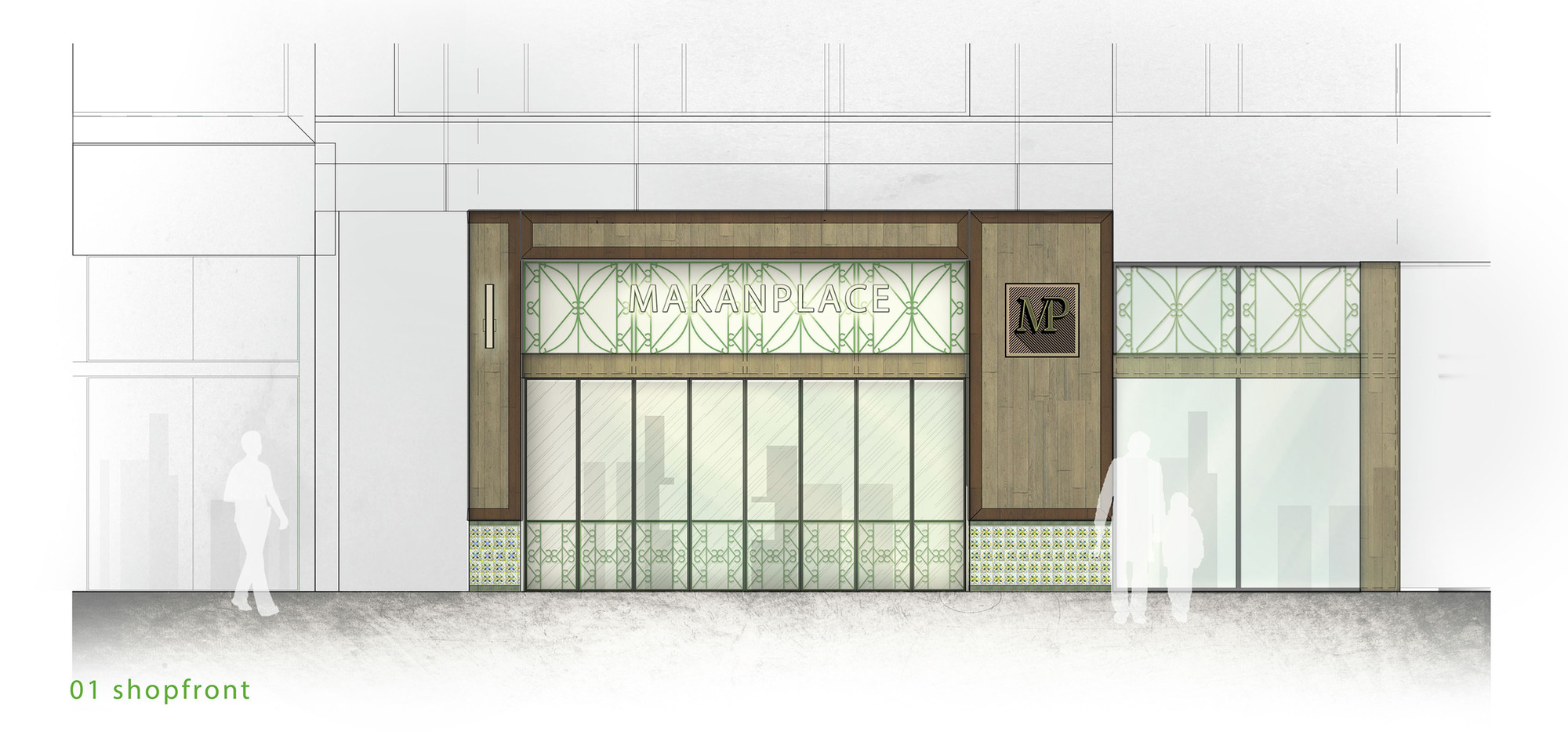 Front Elevation Makan : Gallery of makan place pneuarch