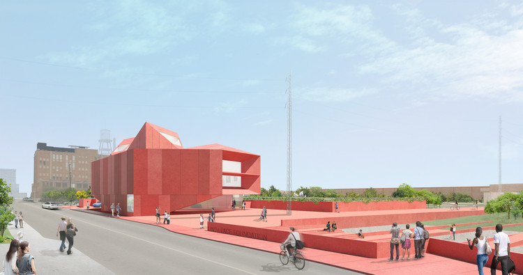 "David Adjaye Designs ""Ruby City"" for Linda Pace Foundation in San Antonio , Rendering of Linda Pace Foundation's Ruby City in San Antonio, estimated to open 2018. Image © Adjaye Associates"