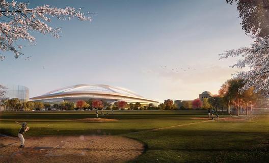 ZHA's New National Stadium proposal. Image © Zaha Hadid Architects