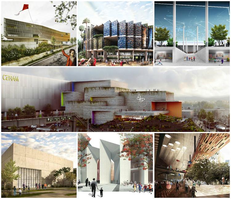 Finalistas del Concurso Nacional de Arquitectura Papalote Museo del Niño Iztapalapa / México