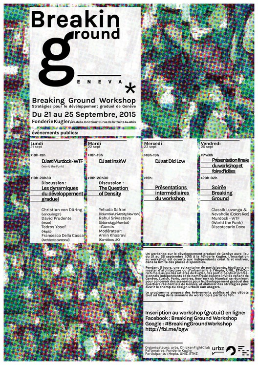 Breaking Ground Workshop, Programme of the Breaking Ground workshop - Geneva (Sept 21-25, 2015)