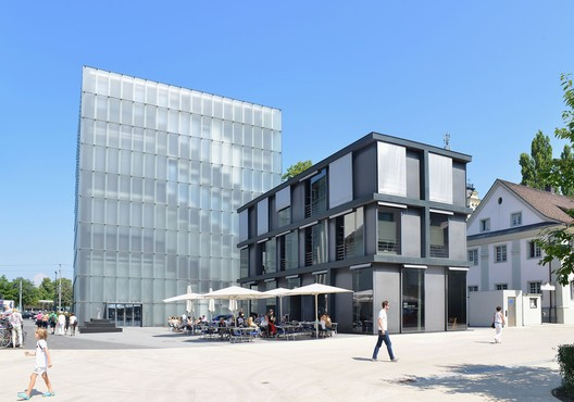 """Kornmarktstraße 3 Kunsthaus Bregenz in Bregenz"" by Böhringer Friedrich licensed under CC BY-SA 3.0"