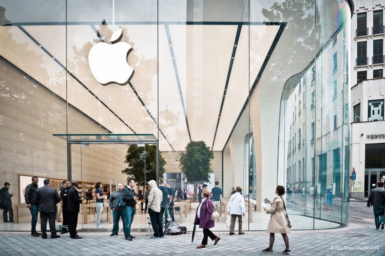 Apple Store diseñada por Jony Ive se inaugura en Bruselas, © Bruno Dalimonte via edgargonzalez.com