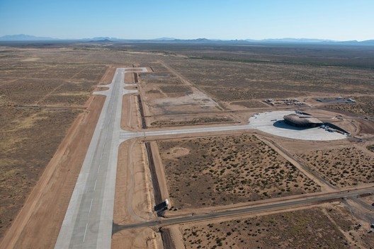 Aerial View of Spaceport America. Image © Nigel Young
