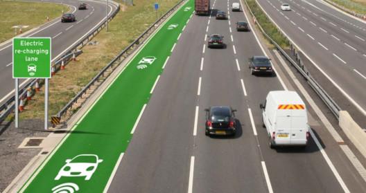 Prototipo de carretera eléctrica. Image © Departamento de Carreteras del Reino Unido