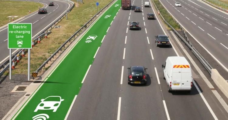 Reino Unido iniciará este año las pruebas para construir una carretera que cargue autos eléctricos, Prototipo de carretera eléctrica. Image © Departamento de Carreteras del Reino Unido