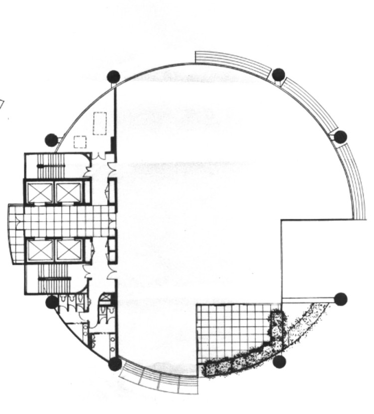 Example Floor Plan, Courtesy of T. R. Hamzah & Yeang Snd. Bhd.