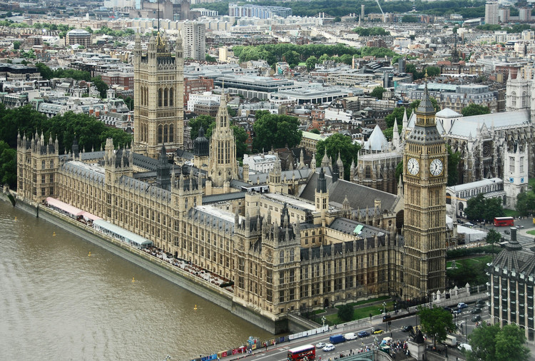 The height of Gothic Revival: the Palace of Westminster (also known as the Houses of Parliament), London. Image © David Hunt