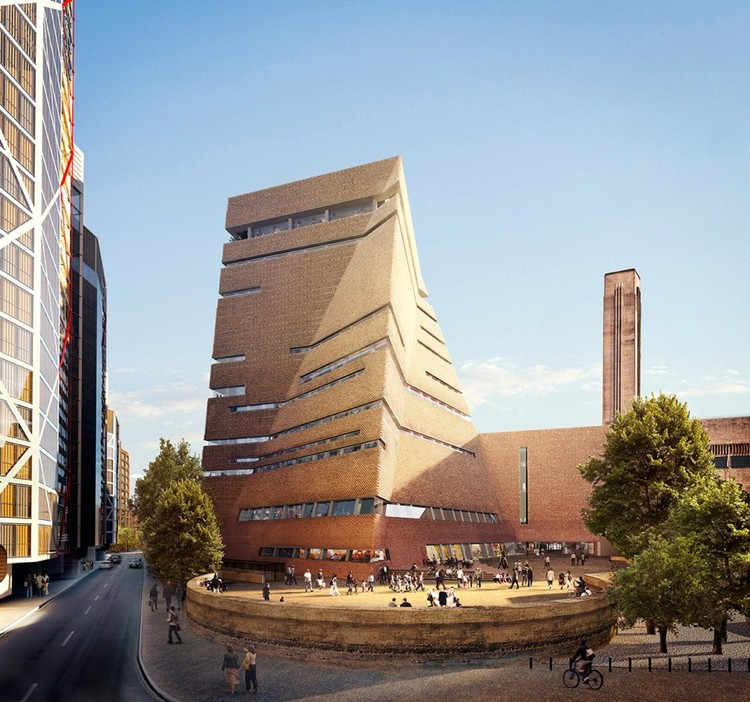 The new expansion to the Tate Modern. Image © Hayes Davidson and Herzog & de Meuron