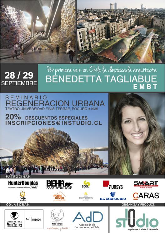 Seminario 'Regeneración Urbana' con Benedetta Tagliabue / Santiago