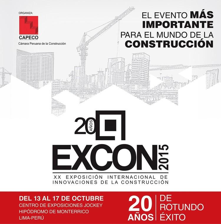 Excon 2015 / XX Exposición Internacional de Innovaciones de la Construcción en Lima, Perú, Cortesía de Excon 2015