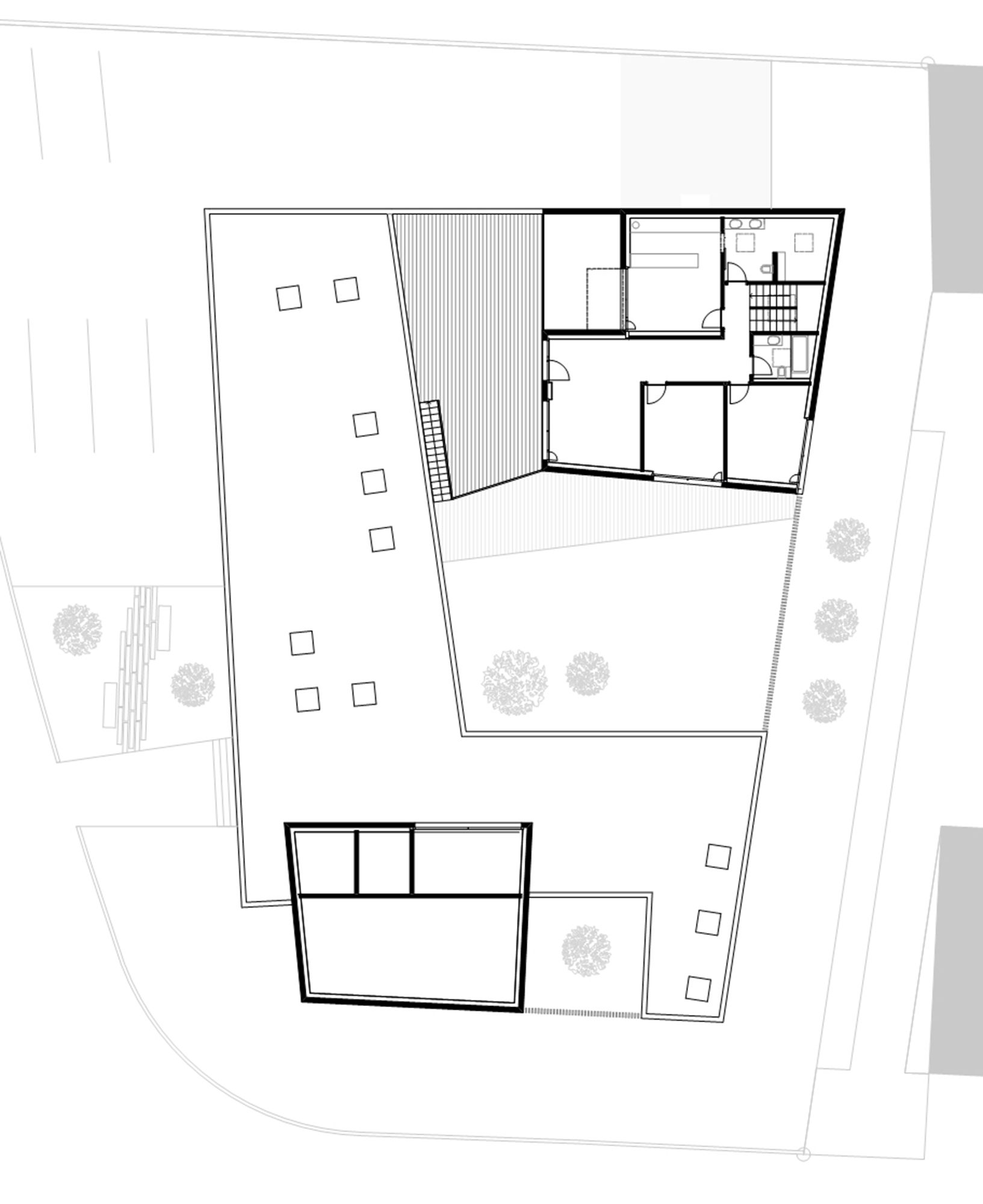 Gallery of residential and commercial building messer for Floor plan for commercial building